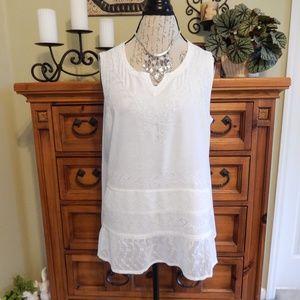 Avenue White Sleeveless Blouse Size 14-16
